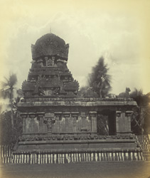 Tanjore Pagoda. Small temple near the Subramanya